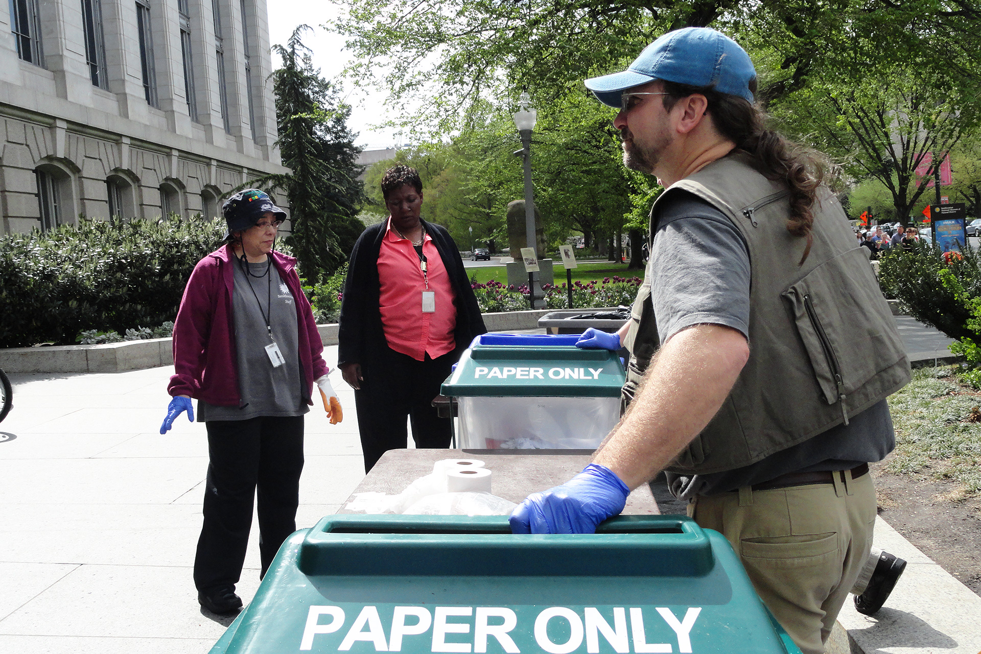 Earth Day 2015 recycle containers