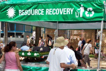 Folklife Festival sustainability booth