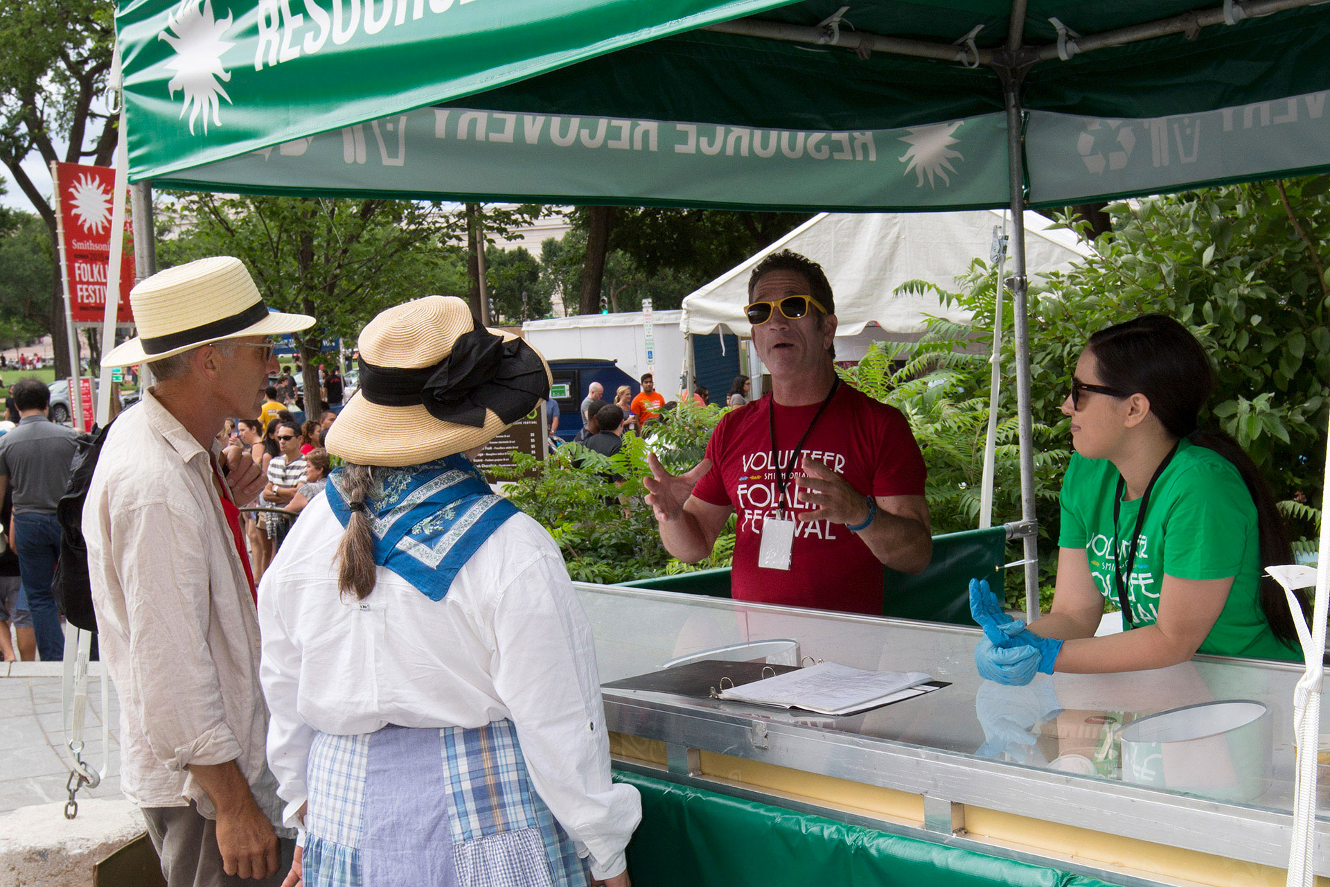 Folklife Festival sustainability booth education