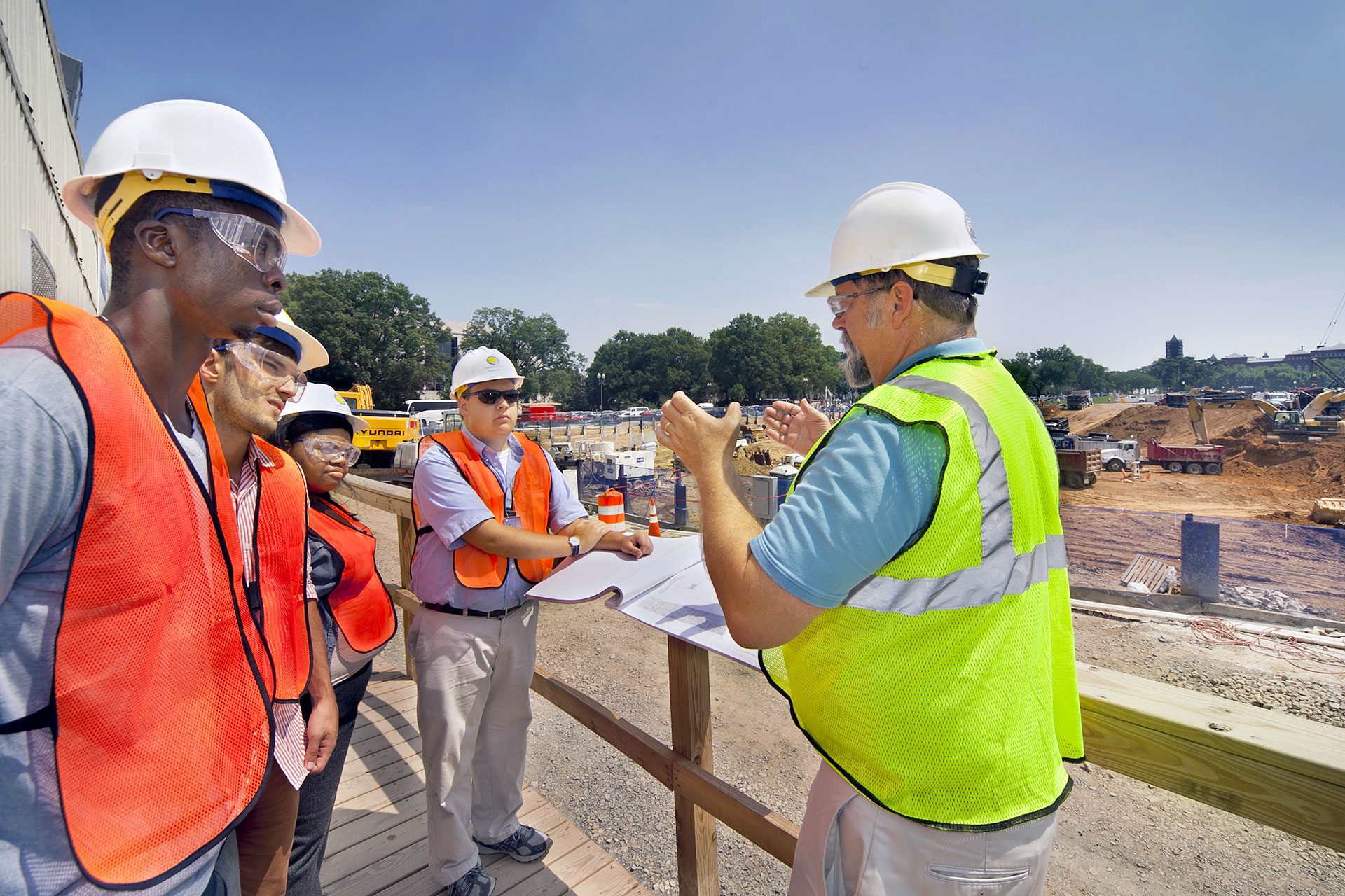 OFMR interns learn about safety on the job site