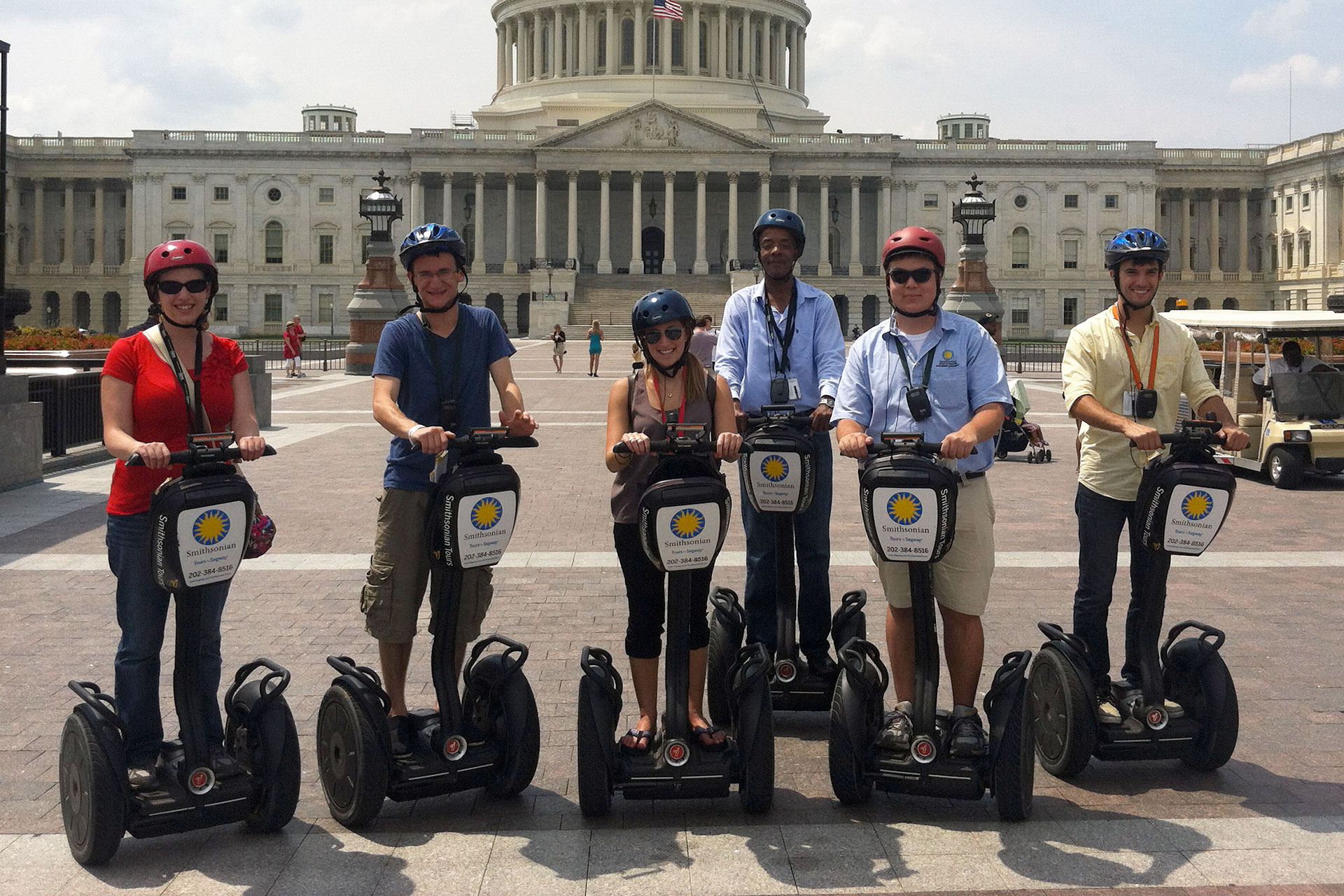 OFMR interns out for a ride on segways
